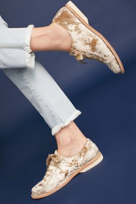 Anthropologie Bill Blass Crushed Velvet Bowling Shoes