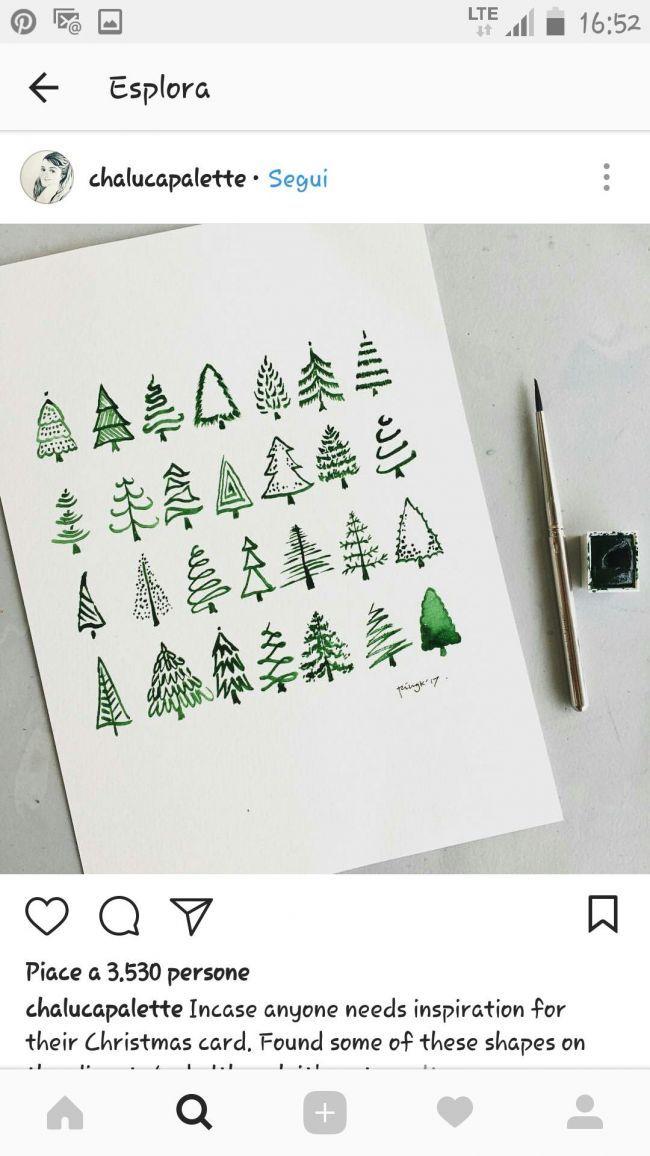 Weihnachtsbäume malen leicht gemacht