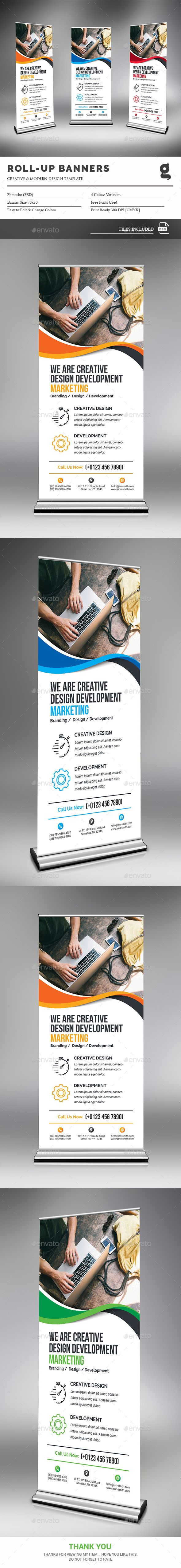 Rollup Banner — Photoshop PSD #logo #modern design • Available here → grap...