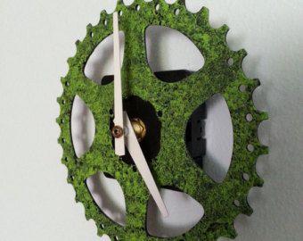 cadena anillo y piñón bicicleta pared reloj de por davehardell