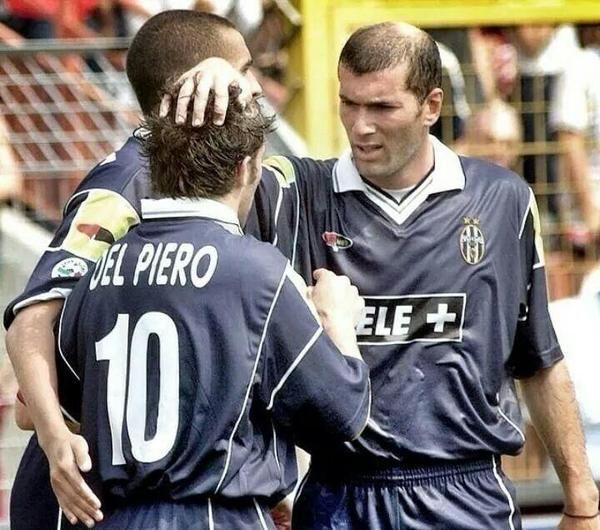 David Trezeguet, Alessandro Del Piero and Zinedine Zidane. Legends!