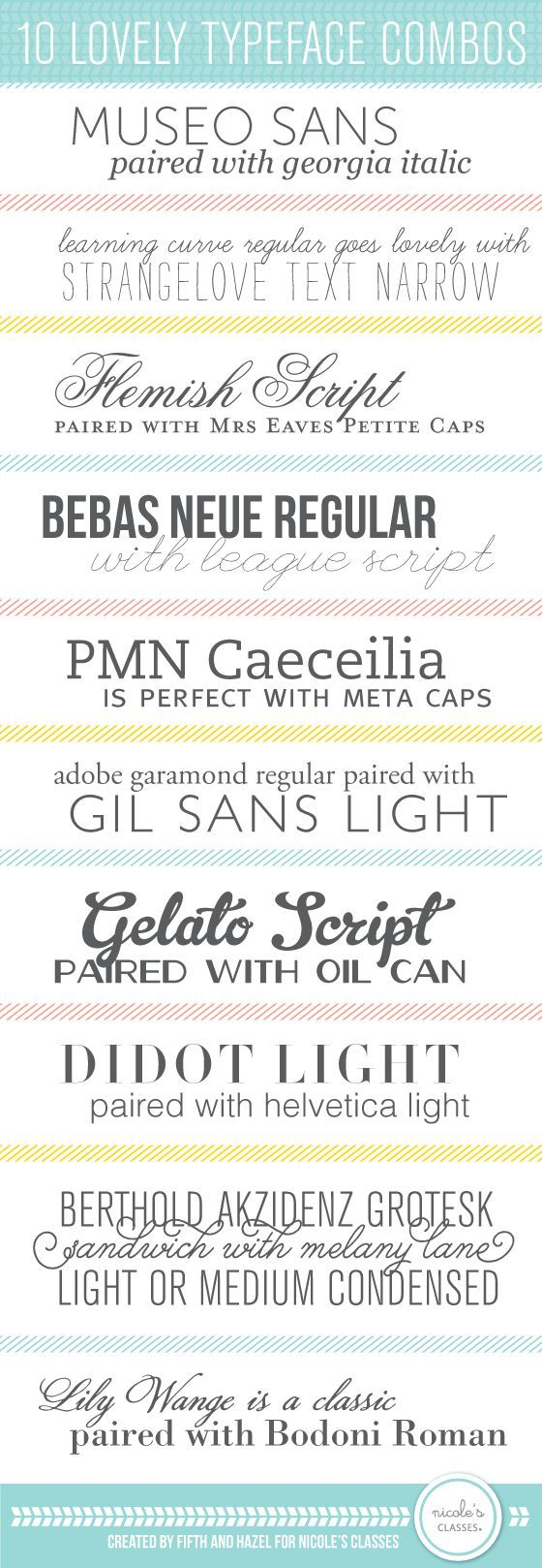 Type pairings that I didn't know . . . But now I do