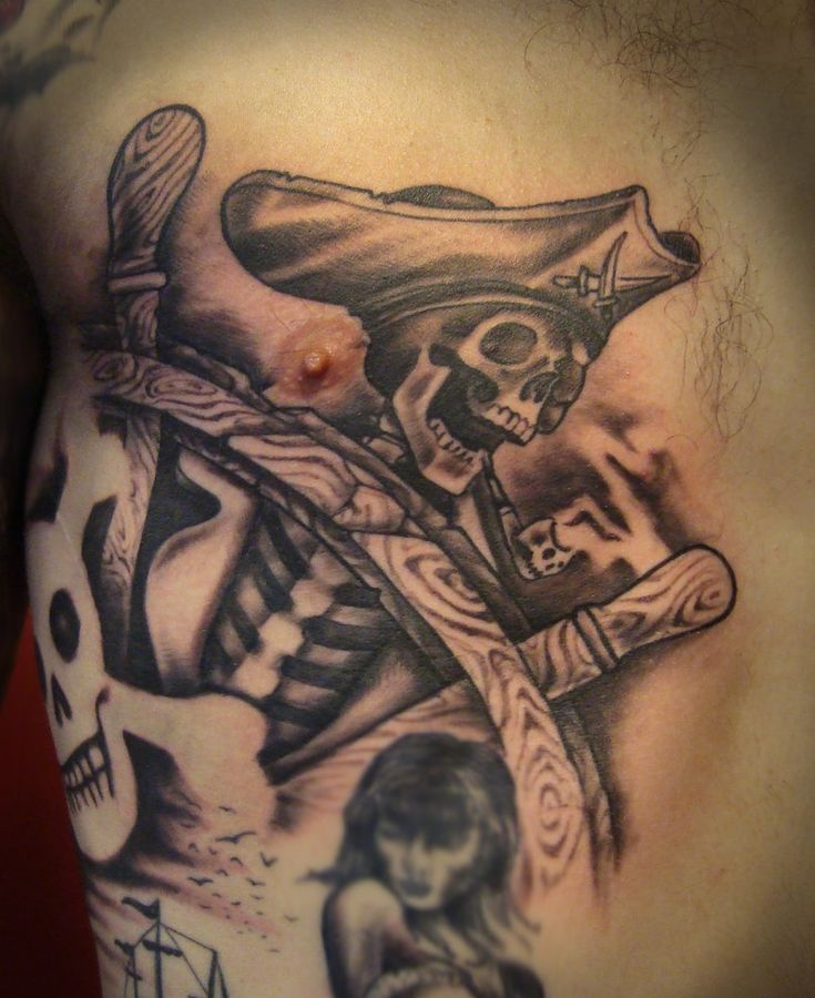 Pics Photos - Pirate Skull Tattoos For Men Pictures