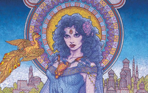 "Celtic Fantasy Art | Celtic Irish Fantasy Art 'The Greek Princess' 8x11"" Print. Ireland ..."