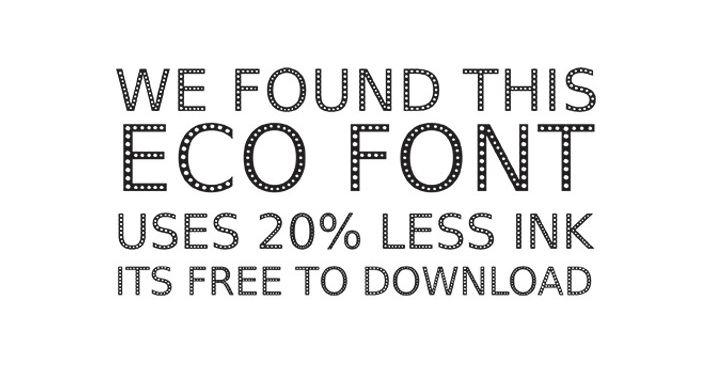 5 tipografías para cambiar el mundo. #Ecofont