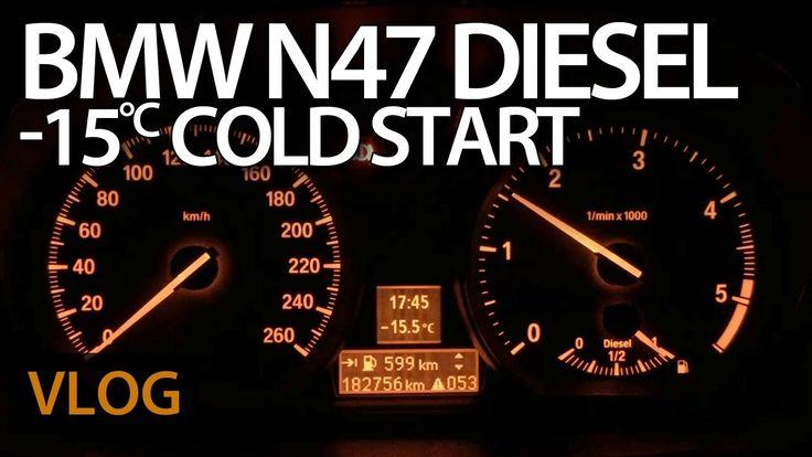 #BMW #N47 diesel cold start at -15°C with defective glow plug #diesel #coldStart #glowPlugs #cars #maintenance