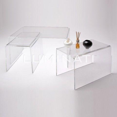 Set Of 3 Acrylic Nesting Tables