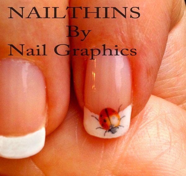30 LADY BUGS  Nail Decal Nail Art  Nail Design Lucky ladybug Spring nails. $2.45, via Etsy.