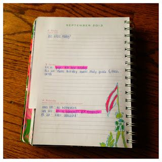 Back to School: Agenda Organization Lilly Pulitzer planner