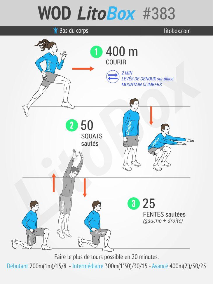 Voici comment bien travailler vos jambes en 20 minutes (fesses, cuisses et mollets).  + Partagez cet entraînement ou taguez vos amis pour proposer ce challenge !  Bon courage et bonne semaine.  Pierre.
