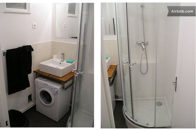 Space saving in bathroom bathroom sink over washing machine kupaonice pinterest laundry for Washer and dryer in bathroom designs