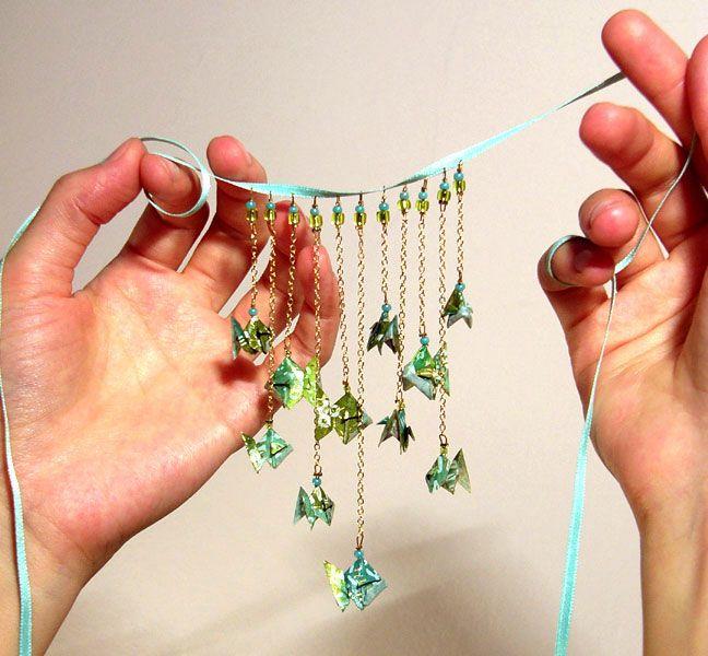 Ras de cou D'amour et d'eau fraîche Bijou collier origami
