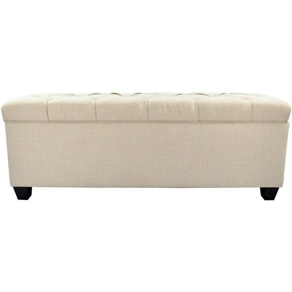 The Sole Secret Beige Diamond Tufted Shoe Storage Bench ($339) ❤ Liked On  Polyvore