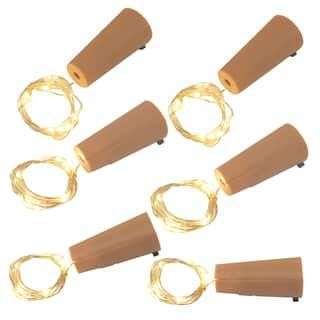 Wine Cork with Battery Operated Submersible Mini String Lights  (6 Count) | Overstock.com Shopping - The Best Deals on Seasonal Decor