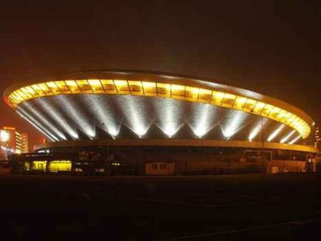Spodek is a multipurpose arena complex in Katowice, Poland