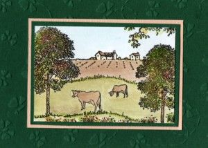Countryside set from Hobby Art. Card by Jenny Mayes