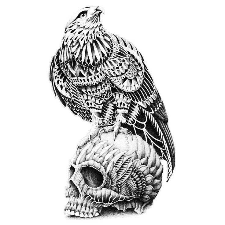 Dessin aigle royal pour tatouage crayonn tatouage - Comment dessiner un aigle royal ...