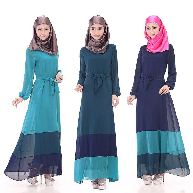 Turkish Abaya Caftan Real Mujer Jilbabs And Abayas New Muslim Robes - A Large Code Women's Fashion Dress, Long Sleeved Dress