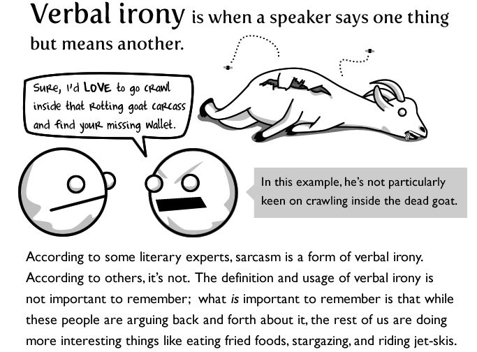 8 best Verbal Irony images on Pinterest | English language ...