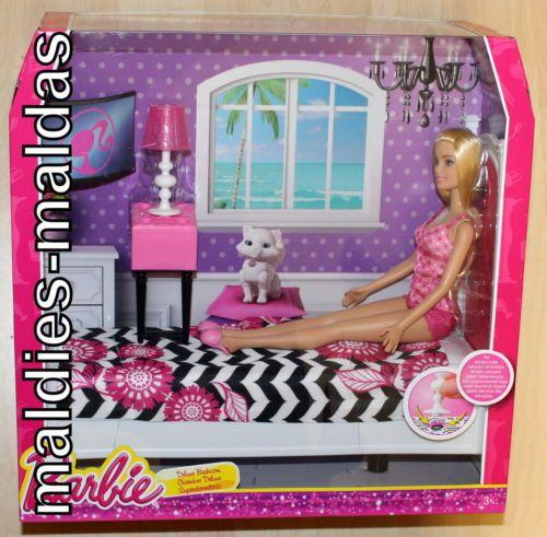 Epic Barbie Wohnaccessoires Deluxe Schlafzimmer mit Barbie CFB NEU OVP M bel Puppe