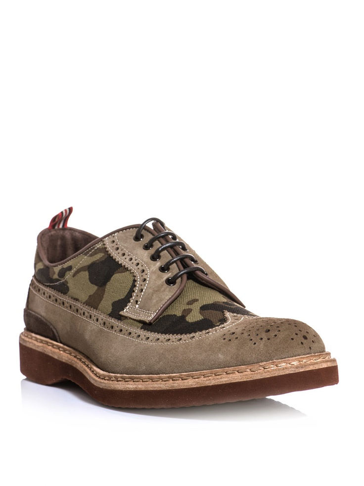 LOVE these. So cool: Beige suede brogues with full wing-tip brogue  detailing. Shoe PhotographyMilitary ...