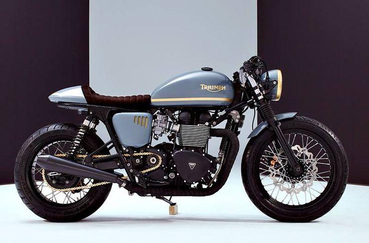 Triumph custom Cafe bike #Triumph #CafeRacer #custom #bike #ride #motorcycles #moto
