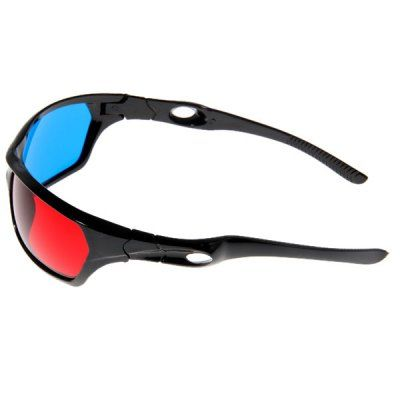 Wonderful Sunlightglasses-Shaped Red + Blue Lens Anaglyph Circularly 3 Dimensional 3D Glasses for 3D Games 3D DVD Movies