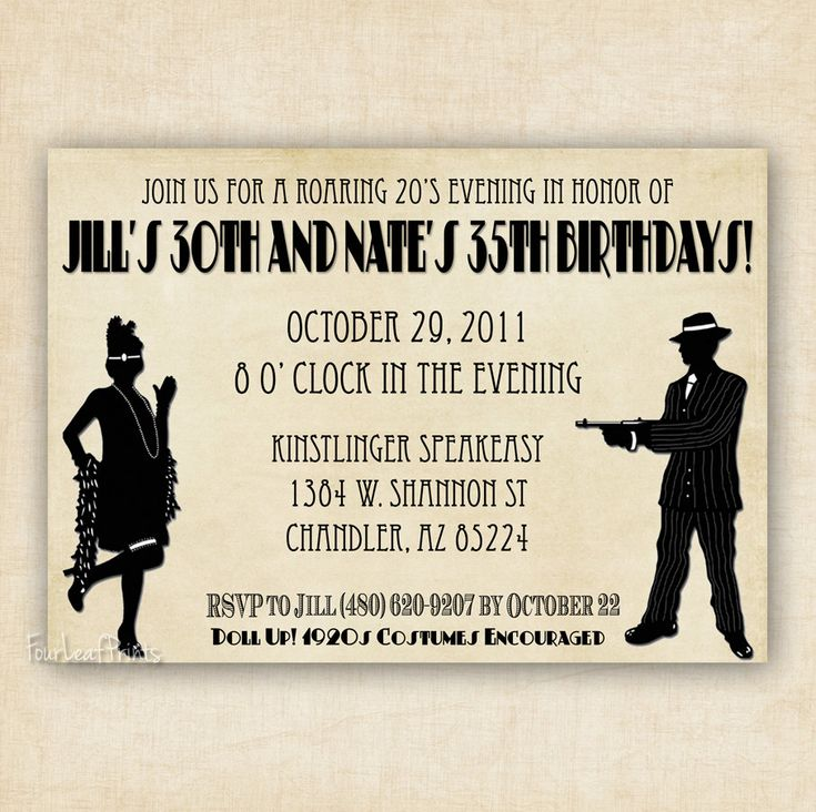 17 Best images about Mafia Gangster Party – Mafia Party Invitations