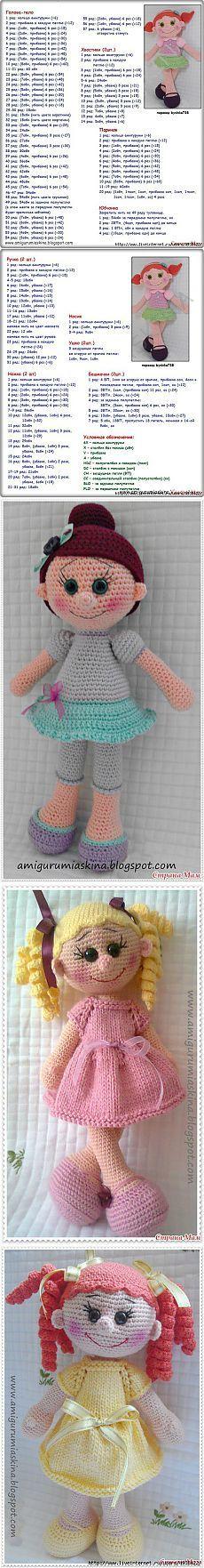 Вязаная куколка - амигуруми (перевод описания).
