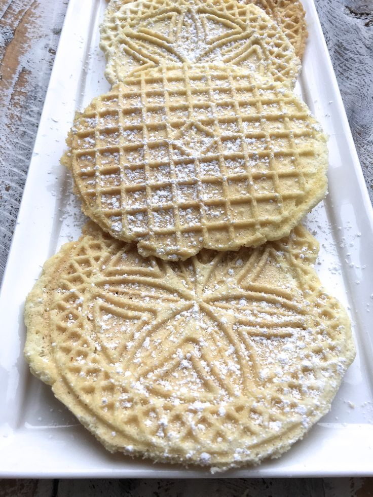Holy yum! Pizzelle cookies are so delicious, pretty and remind me of the holiday season!My mom used to make these when I was in high school. She worked in my high school, working with individuals w…