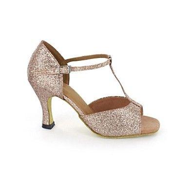 Latin Women's Sandals Sparkling Glitter Stiletto Heel Buckie Dance Shoes 2342856 2017 – $22.49