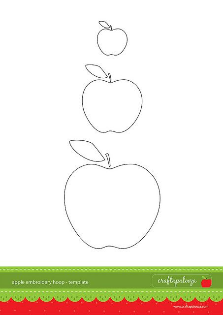 apple embroidery hoop template | Flickr - Photo Sharing!