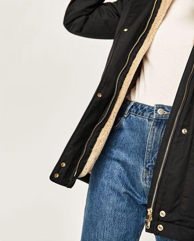 Image 7 of PARKA STYLE COAT from Zara
