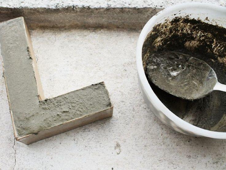 DIY-Anleitung: Buchstaben aus Beton gießen via DaWanda.com