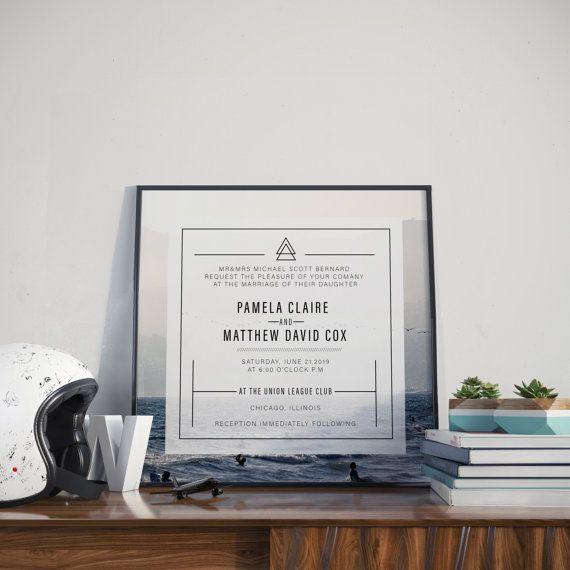 KRAFT Wedding Invitation Set, Save the date, RSVP postcard, Wedding set, Printable Wedding Invitation Suite, Customizable Wedding Invites