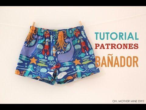 Cómo hacer bañador de niño DIY (patrones gratis) | Manualidades