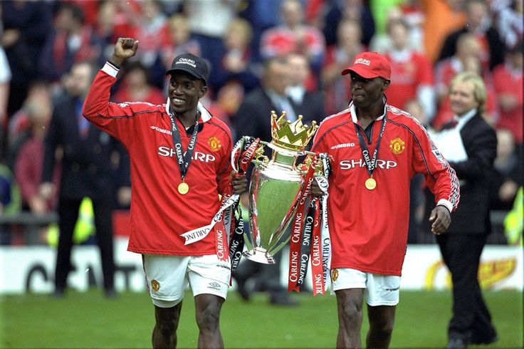 Dwight Yorke and Andy Cole scored 53 goals between them on the way to winning the 1998/99 League title.