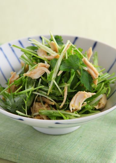鶏ささみとみつ葉のヘルシーサラダ のレシピ・作り方 │ABCクッキングスタジオのレシピ | 料理教室・スクールならABCクッキングスタジオ