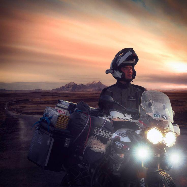 Triumph Tiger 800 XCX. Beautiful Nature of Kazakhstan. Mountains. Motorcycle Adventure Travel Rider. VISORHEAD.