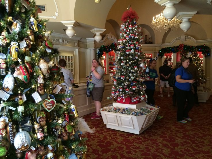 This is a picture of Disney's Germany Christmas store that is located at Epcot in Orlando, Florida.