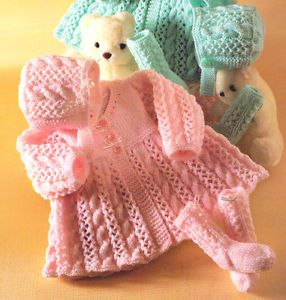 Knitting Pattern Central - Free Baby Layettes/Sets/Outfits
