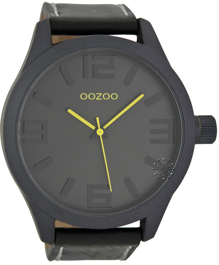 OOZOO Large Τimepieces Black Leather Strap Μοντέλο: C6274 Η τιμή μας: 69€ http://www.oroloi.gr/product_info.php?products_id=36168