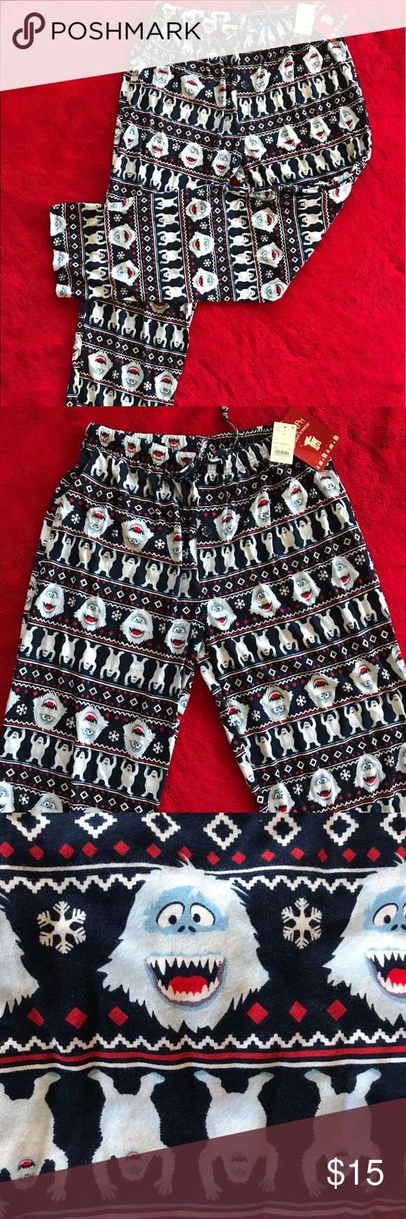 Abominable snowman pants size XL How cute are these? They have the abominable snowman on them, my favorite Christmas show ever! Very soft and comfortable, perfect for those winter Christmas nights by the fire! Intimates & Sleepwear Pajamas