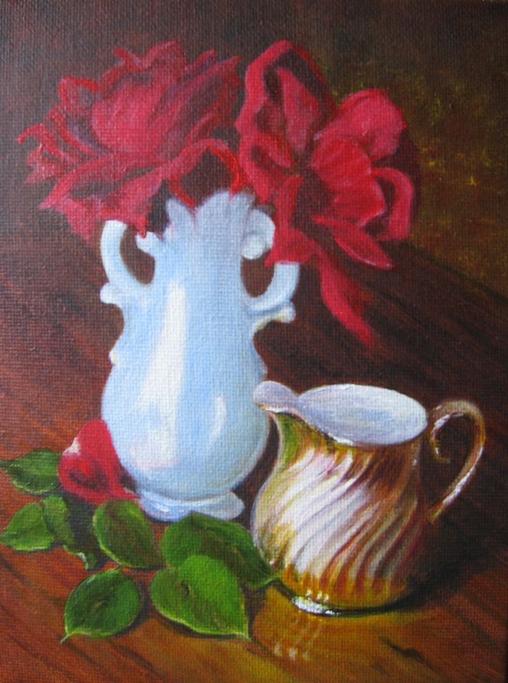 'The Little Gold Jug' (c) J. M. Baker Acrylic on Canvas Panel.