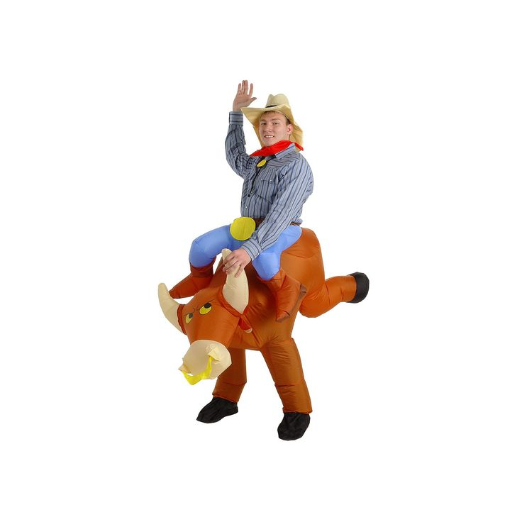 The Illusion Bull Rider Costume - Adult, Men's, Size: Inflatable, Multicolor
