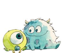 Inspiring image watercolours, tumblr, transparent, chibi, cute, monsters inc, drawing #1225795 by korshun - Resolution 500x486px - Find the image to your taste