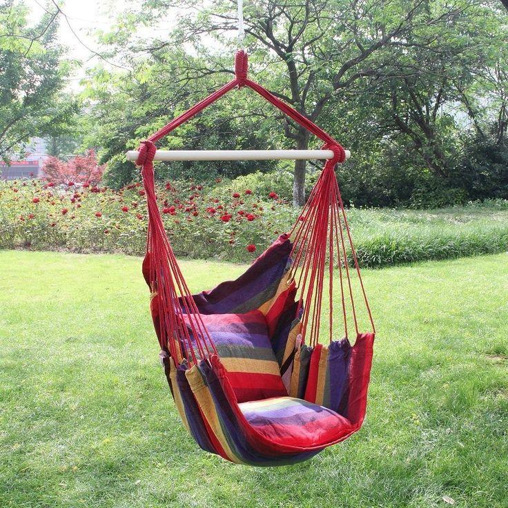 Garden Hanging Cushioned Seat Tree Hammock Porch Swing Chair Indoor Outdoor - Best 25+ Swing Chair Indoor Ideas On Pinterest Indoor Hammock