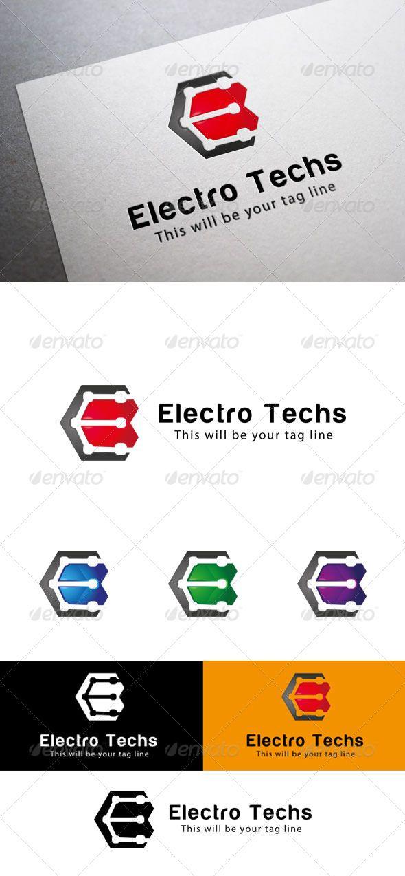 E Logo Template (Letters)