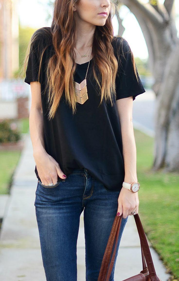 Black t shirt outfit - Merricks Art Three Ways To Wear A Black Tee