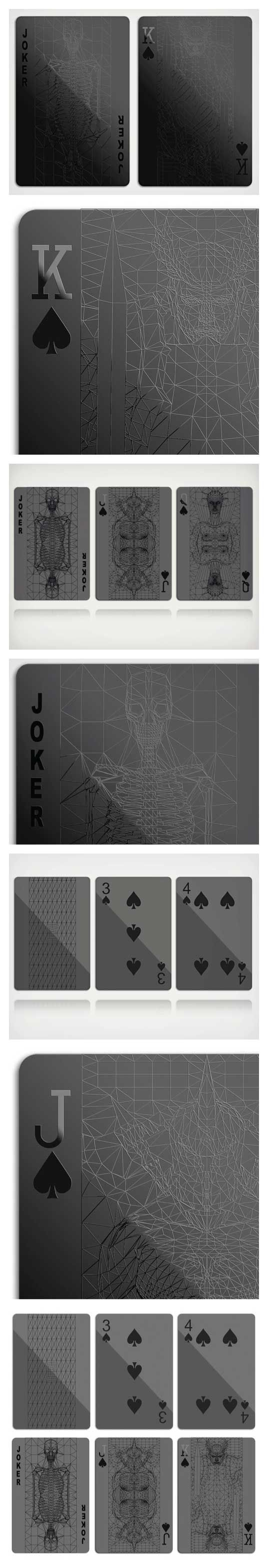 Playing cards are the new Kickstarter pens. A new deck comes out every other week that we end up drooling over (which is bad cause now all the edges are getting mushy). Our latest find is this set of Black Playing Cards which happen to please our eyeballs mightily  Following the commandment set forth by the likes of Jay-Z, this deck sports all black everything. The black on black print makes for an aesthetically pleasing and slightly demonic feel (especially considering the face card…